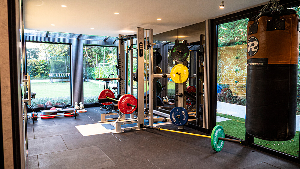 garden room gym idea