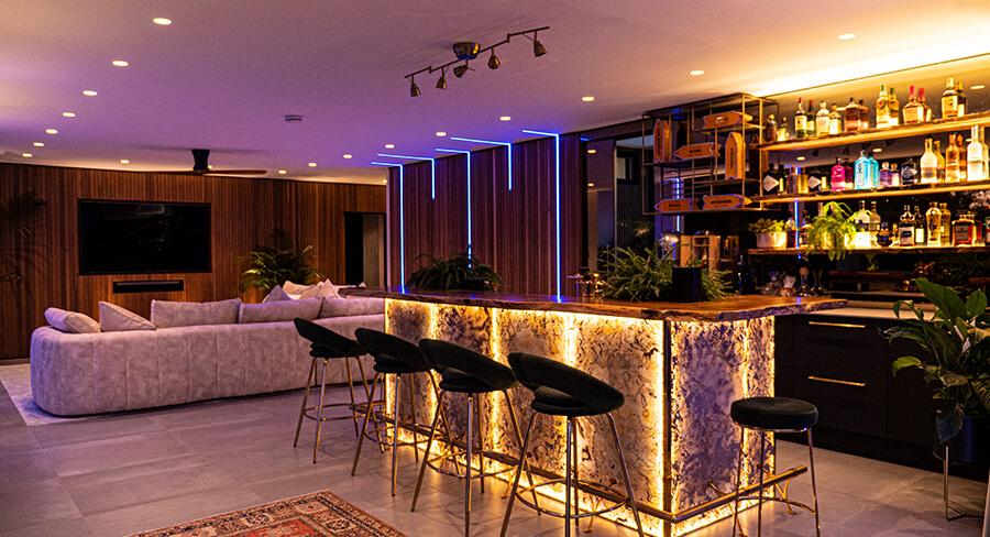 Pub Bar In Garden Room